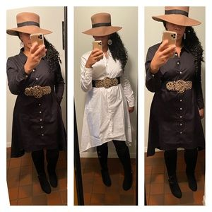 Oversized Shirt Dress 1X 2X 3X